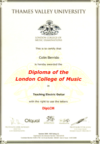 Diploma of the London College of Music